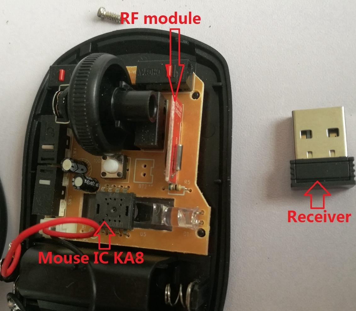 Wireless Mouse IC Optical sensor KA8 DIP8L