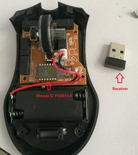 Wireless Mouse IC Optical sensor FH8811 with Receiver DPI14L 3-6 buttons CPI  1200(default)/1600/800 No need transmitting module