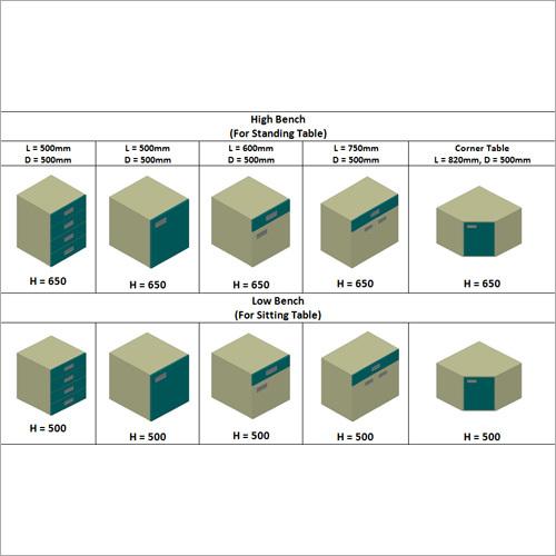 C Frame Design Storage Cabinet