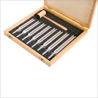 Tuning Forks, Set Of Eight, Aluminum With Hammer