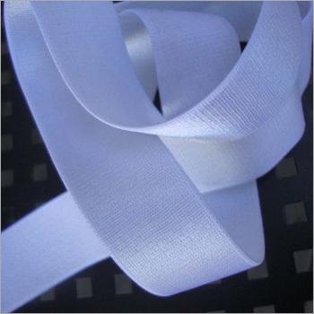 White Satin Woven Elastic