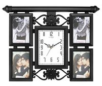 Designer photo frame with clock