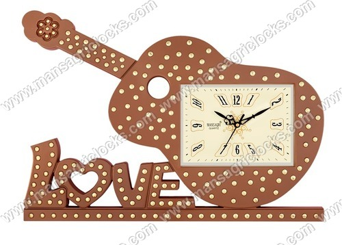 Guitar Shape Designer Wall Clock
