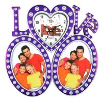 Love Family Collage Frame with clock