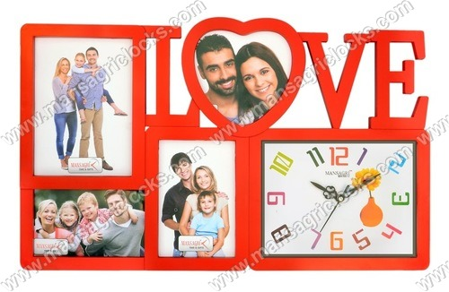 Love Family Picture Frame With Clock