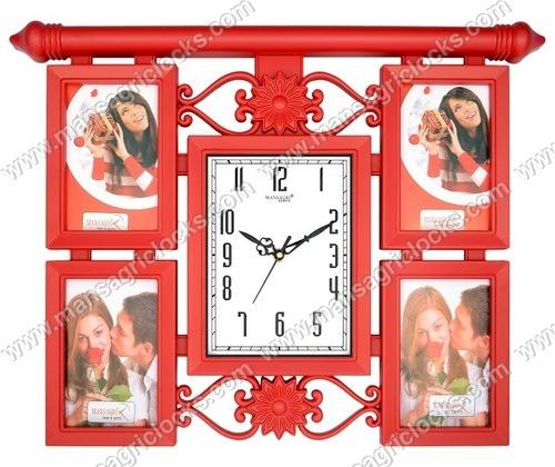 Decorative Wall Clock Photo Frame