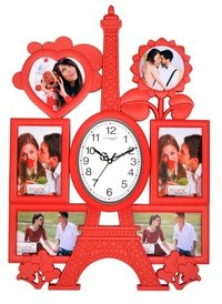 Premium Eiffel Tower Clock with 6 Family Photos
