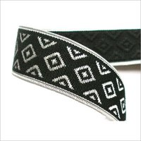 Black and White Woven Elastic