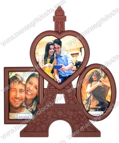 Wall Hanging Eiffel Tower With Family Photo Frames