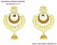 Long Kundan Earring Exclusive Designer Look