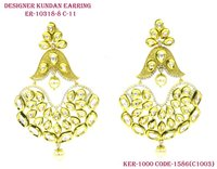 Stylish Delicate Design Vilandi Kundan Earring