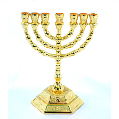 Gold Plated Menorah