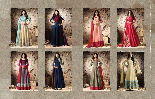 Multicolor occasion wear designer collection