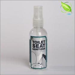 Toilet seat sanitizer spray