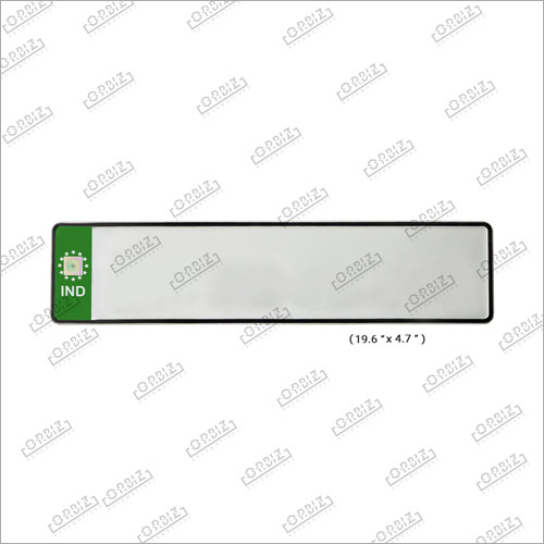 Green Car Long Number Plates