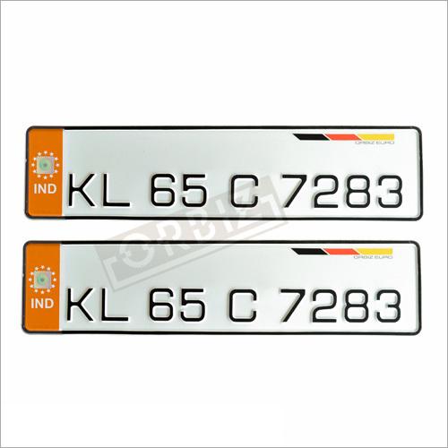 Ind Orange Number Plates