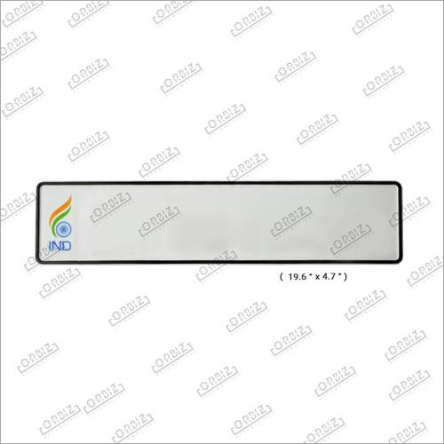 Ind White Flag Car Long Number Plates
