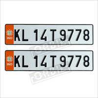 Orange Number Plates