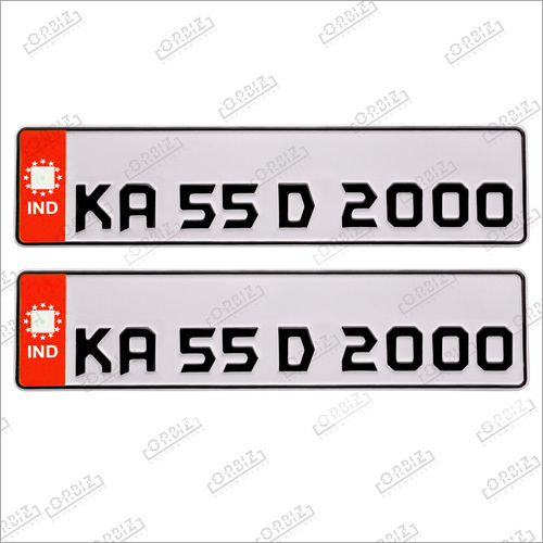 Red Batman Car Number Plates