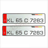 Red D Number Plates