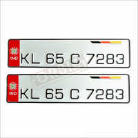 Red Number Plates