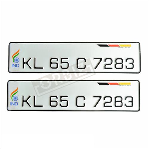 White Flag Number Plates