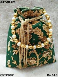 Embroidered Potli