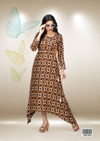 Printed Party Wear Frocks
