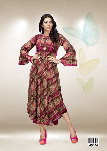 Multi Colour Printed Designer Gown