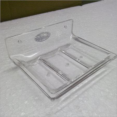 Acrylic clear soap dispenser single rectangle
