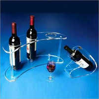 Acrylic wine bottle stands