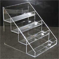 Acrylic clear four tier table top bottle beer display holder