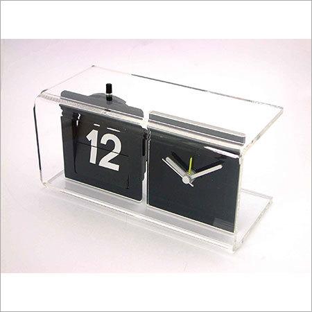 Acrylic Analog Clock With Calendar