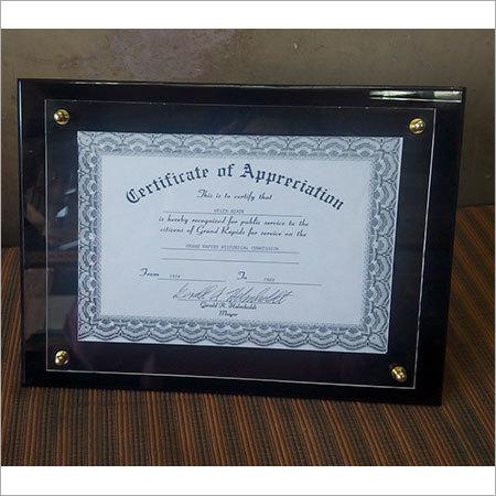 Acrylic Certificate Holders