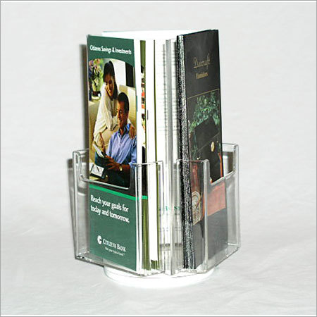 Acrylic Brochure Holder Spinning
