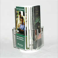 Acrylic Brochure Holder Spinning
