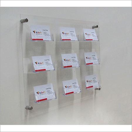 Acrylic business card holder panels