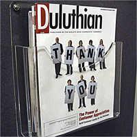 clear Acrylic magazine holder