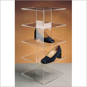 Acrylic 5 tier shoe display stand