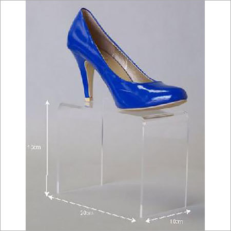 Acrylic counter top shoe display stand