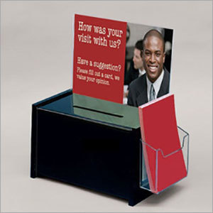 Acrylic Suggestion And Complaint Box