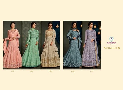 Multi Color Karachi Style Embroidered Cotton Dress