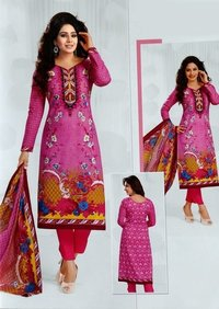 Pink karachi cotton dress