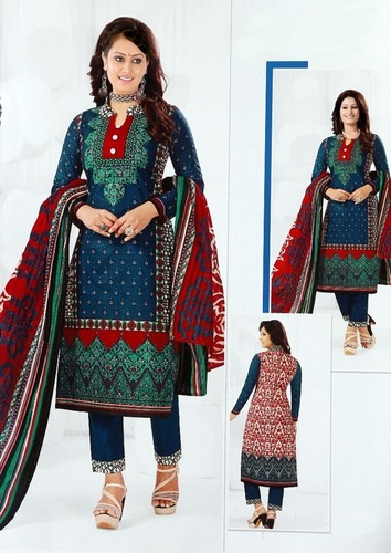 Printed Karachi cotton dress material