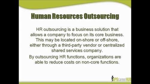 Human Resource Outsourcing