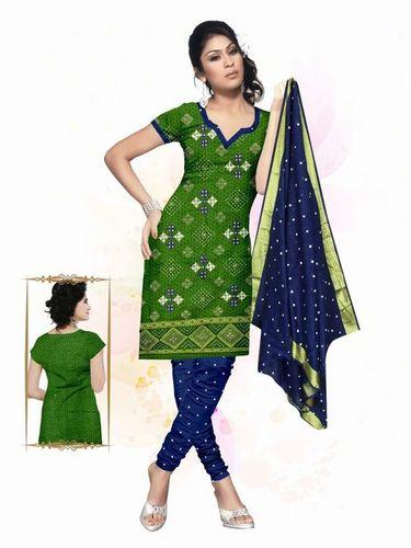 Printed Ati Work Ladies Dress Material