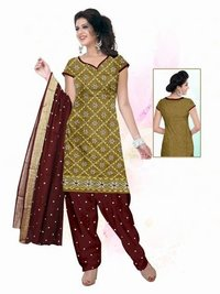 Fancy Border Dupatta Dress material