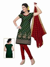 Resma Border Dress With Dupatta
