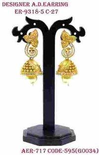 Ethnic & Delicate Designer Kundan Earring