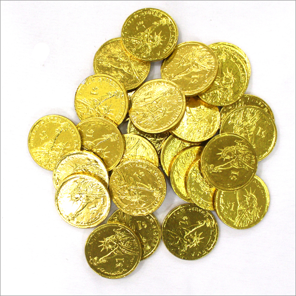 Round Gold Coin Choco Candy